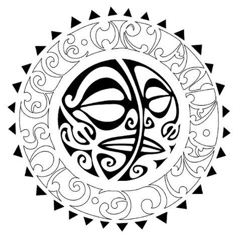 4947c77ad Tribal Sun Moon Tattoo Flash Tattoo