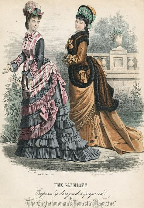 October fashions, 1875 England, The Englishwoman's Domestic Magazine