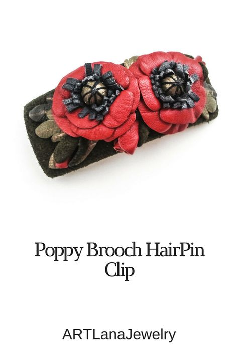 flowers $35 #brooch #clip #hairbrooch...
