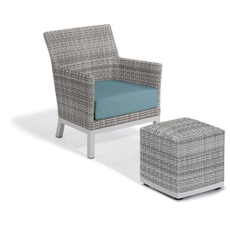 Astounding Outdoor Oxford Garden Argento Wicker Patio Club Chair With Machost Co Dining Chair Design Ideas Machostcouk