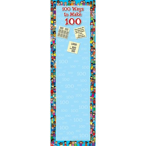 100 Ways To Make 100 Anchor Chart--using sticky notes, have students post their thoughts.  Now to find out when the 100th day of school is. . . . .
