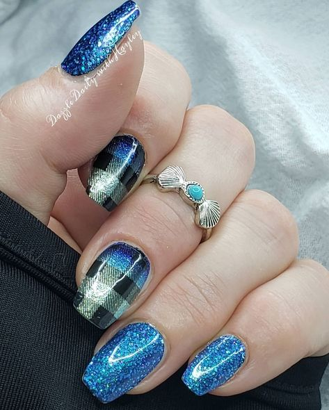 Nail Polish Strips, Nail Polish Colors, Nail Color Combos, Color Street Nails, Blue Glitter, Mani Pedi, Nail Inspo, Toe Nails, Nails Inspiration