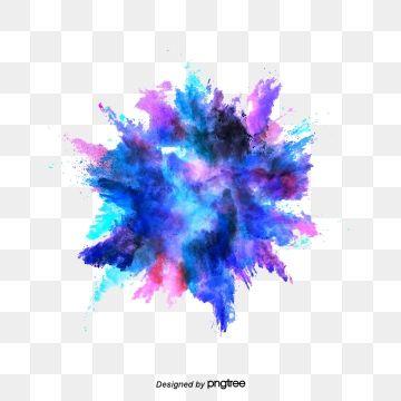 Vector Color Hand Painted Watercolor Splash Color Vector