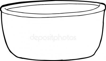 Empty Bowl Outline Outline Empty Bowl