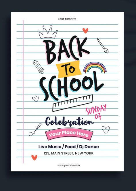 Back to School Flyer / Poster Template EPS