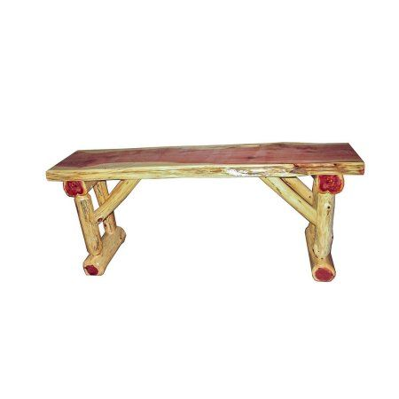 Incredible Kunkle Holdings Llc Red Cedar Log Dining Hall Dining Bench Squirreltailoven Fun Painted Chair Ideas Images Squirreltailovenorg
