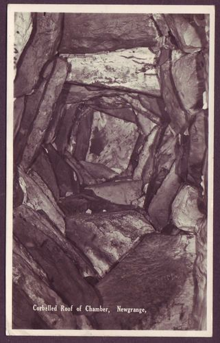 Corbelled Roof Of Chamber Newgrange C 1950 Rp Publisher Not Stated Not Numbered Monument Prehistoric Dolmen