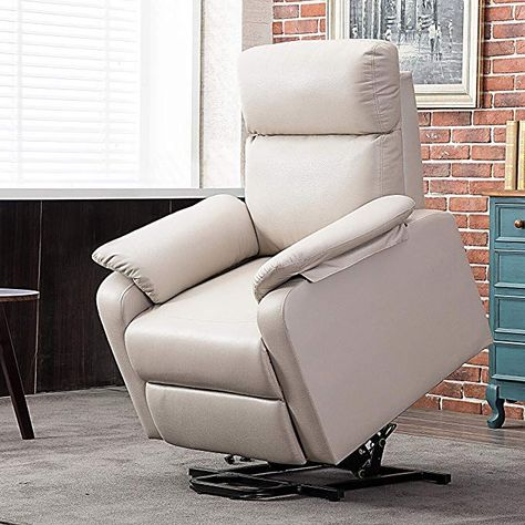 Harper Bright Designs Leisure Power Lift Recliner Chair With Built