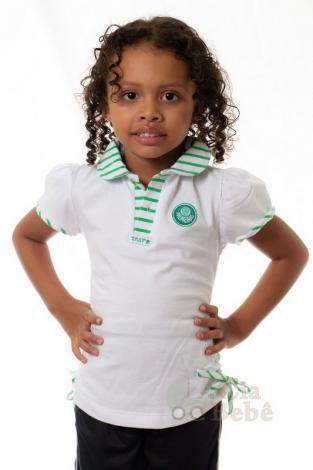 63a3237b5d6d4 Camiseta Palmeiras Polo Infantil Feminina Oficial - Revedor - Magazine  Edmilsonzerosete