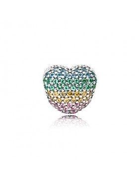 8aaf11a7464e 797221NRPMX Pandora abrir mi corazón Pavé Clip, multi-color de la CZ ...
