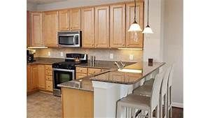 Maple Cabinets And Grey Granite Countertops Kitchens Maple Kitchen Cabinets Maple Cabinets Cherry Cabinets Kitchen