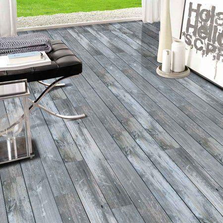 5m self adhesive wood grain floor