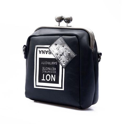 جديد 2016 أسود برشام أزياء المرأة حقيبة crossbody أكياس