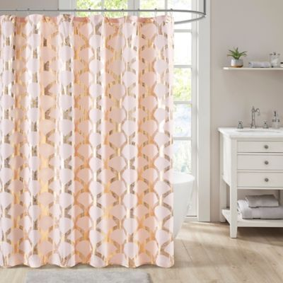 Madison Park Intelligent Design Lorna Metallic Shower Curtain In