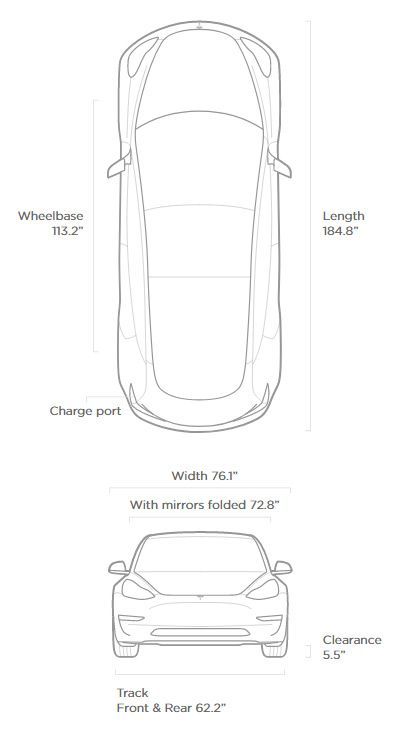 Tesla Model 3 Dimensions >> Tesla Model 3 Exterior Dimensions Comparison Data Analysis