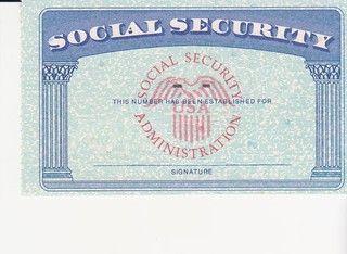 Social Security Card Ssc Blank Color Social Security Card Id Card Template Card Templates Free