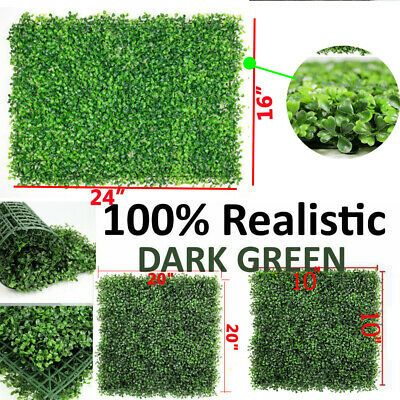 24pcs 12pcs Artificial Boxwood Mat Wall Hedge Decor Privacy Fence Panel Grass Artificial Boxwood Privacy Fence Panels Fence Panels