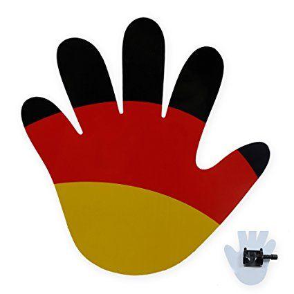 Deutschland Deko Die Winkende Hand Furs Auto Perfekte Autodekoration Fur Den Autokorso Zur Fussball Weltmeisterschaft Fussball Em Fussball Deko Fussball Wm