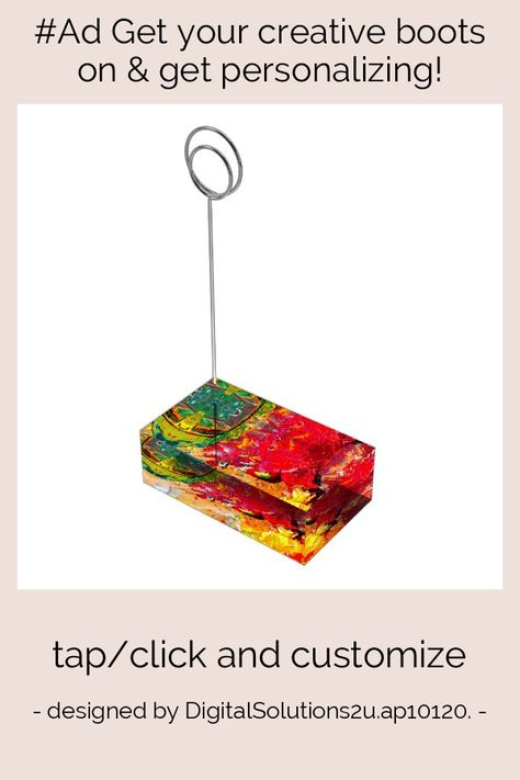 Abstract Of Cheerful Artist Palette Place Card Holder - tap/click to get yours right now! #PlaceCardHolder #affiliatelink #painter #oil #paint #palette,