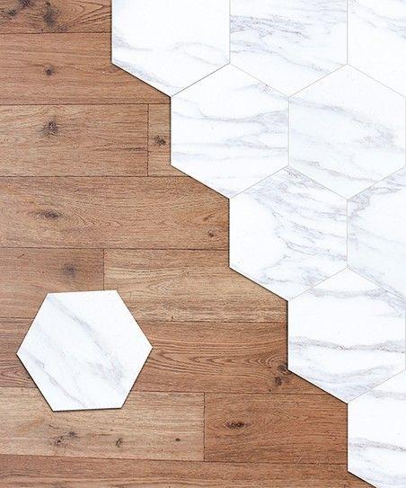 Walplus White Marble Hexagon Floor Tile Decal Set Mosaikfliesen Fliesen Sticker Pvc Boden Kuche
