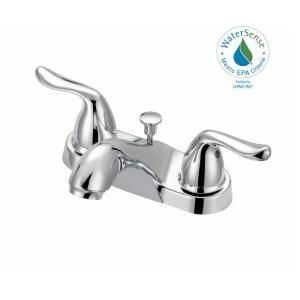 Glacier Bay Constructor 4 In Centerset 2 Handle Bathroom Faucet In Chrome F5121054cp The Home Depot Bathroom Faucets Faucet Glacier Bay