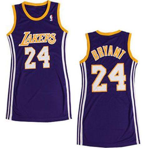 f63c1e055 Women s Kobe Bryant Authentic Purple Jersey  Adidas  24 NBA Los Angeles  Lakers Dress