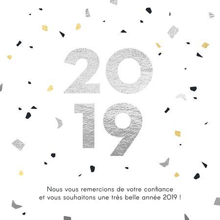 carte fin d année Carte de voeux entreprise Marbre Souhaitez une bonne année dans l