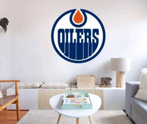 Peel-N-Stick Decal: Edmonton Oilers Hockey Logo. Our decals are removable and guaranteed not to damage the walls when removed. The decal can be repositioned many times. This is an indoor decal, ideal for smooth walls. Will not stick to textured paint. This is a fabric non-toxic decal that comes in many sizes. Highly durable! Stick to many surfaces. Will not tear or wrinkle. Tons of other logos available