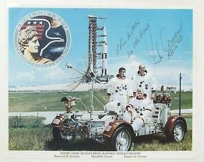 NASA Apollo 17 Astronaut  Gene Cernan Autographed