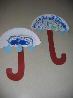 Preschool Crafts for Kids*: Rainy Day Umbrella Craft 1