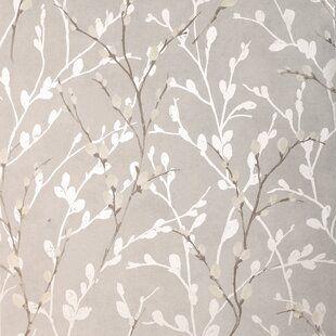Walls Republic Leaf 32 97 X 20 8 Floral And Botanical Wallpaper In 2021 Grey Wallpaper Metallic Wallpaper Watercolor Floral Wallpaper