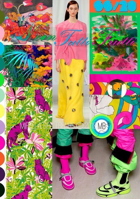 Neon Tutti-Frutti - Mirella Bruno Print Pattern and Trend Designs.