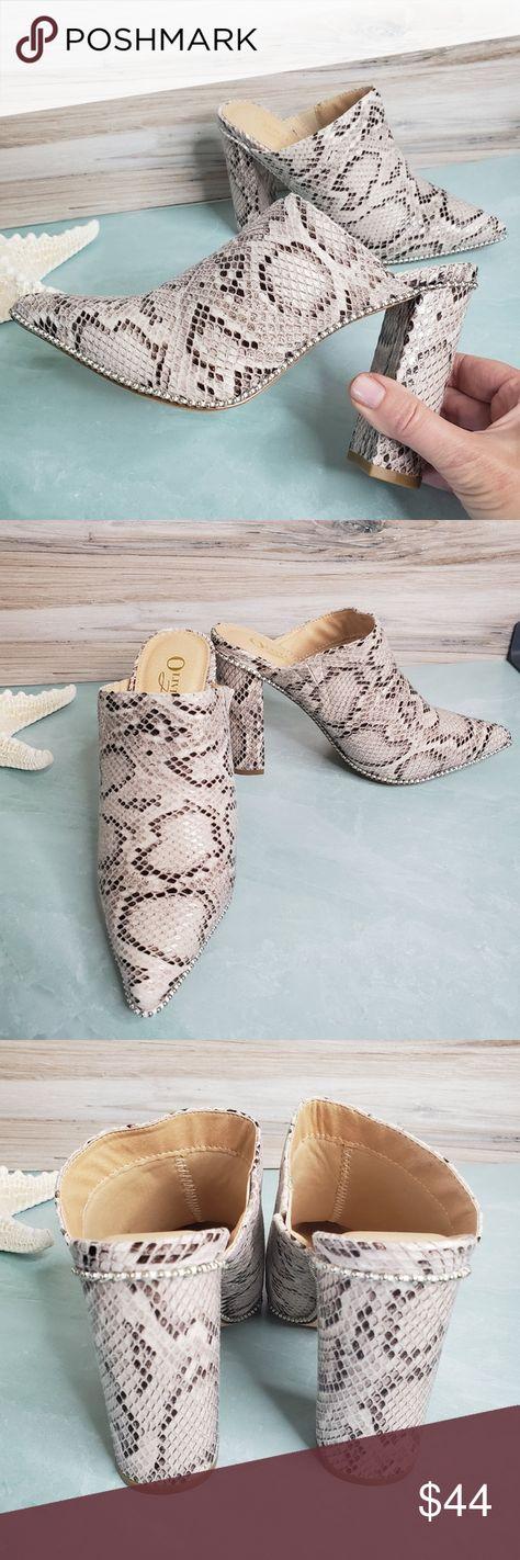 New! Winston Snake High Heel Mule New! Winston Snake High Heel Mule  •New in b...#heel #high #mule #snake #winston