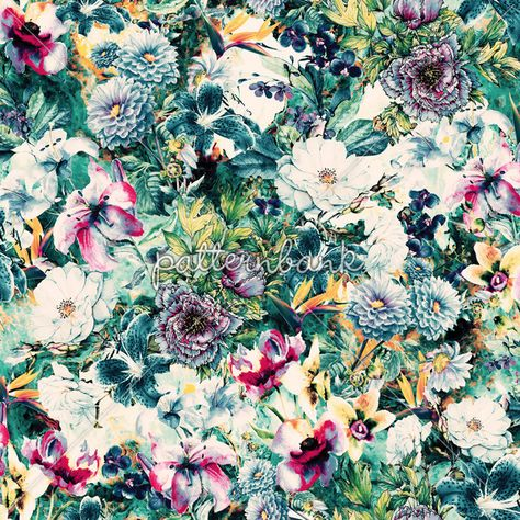 Ocean Floral by VS Fashion Studio Seamless Repeat Royalty-Free Stock Pattern