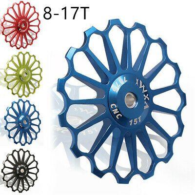 Derailleur Ceramic Bearing 8-17T Rear Pulley Jockey Wheel Road Bike Guide Roller