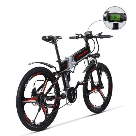 26 Inch 10 8ah 48 V Electric Bicycle Lithium Battery Electric Mountain Bike Engine Powerful 350 W Folding B Electric Mountain Bike Electric Bicycle Bike Engine
