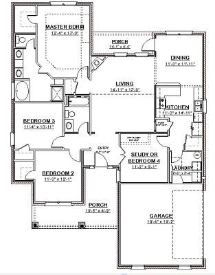 Custom House Home Building Plans Ranch 3 Bed Study 1748 Sf Pdf