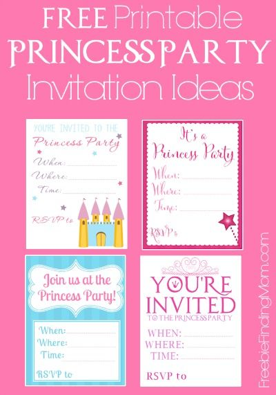 Free Printable Princess Birthday Party Invitations Invitaciones - free birthday invitation templates for word