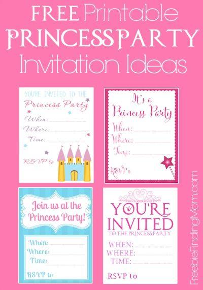 princess birthday invitations free printable