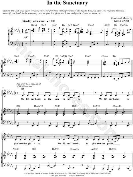 In The Sanctuary Sheet Music By Kurt Carr Gospel Choir Repertoire