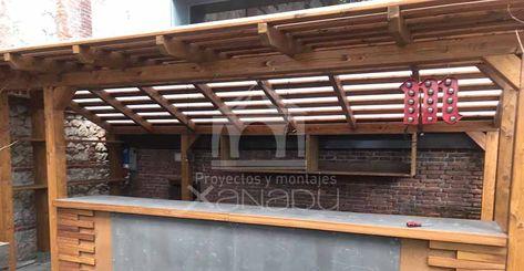 ce645350090a Barra de bar, en madera y Viroc, si quieres más información llámanos al 916
