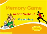 IWB Action Verbs Memory Game for ESL Learning – Very Low Beginners
