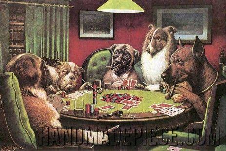 Dogs Playing Poker A Bold Bluff Counted Cross Stitch Chart Pattern