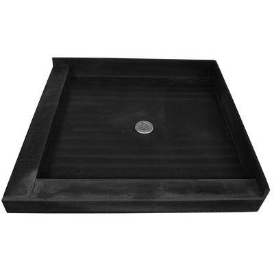 Tile Redi Muli Curb Shower Pan 36 X 36 Double Threshold Shower