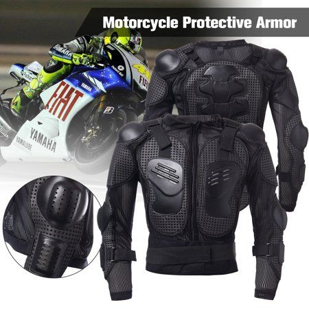 Motorcycle Full Body Armor Spine Chest Shoulder Gear Protective Jacket Guard