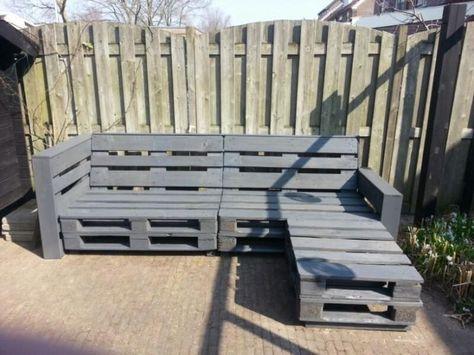 Leuke loungebank van pallethout