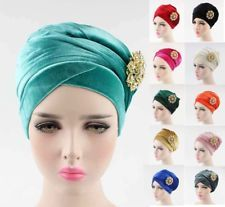 Broche Hijab Lady Cancer Chimio Chapeau Bonnet Écharpe Turban Head Wrap Cap Femmes Chapeau