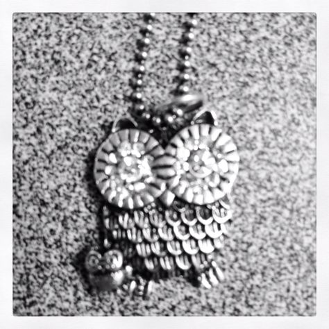 Momma Owl and baby owl necklace. I would live this to be a tattoo!