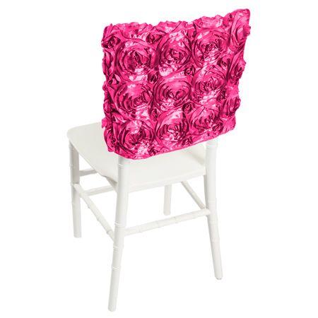 fuchsia satin rosette chair cap by smartyhadaparty wedding