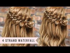 Four Strand Waterfall Braid by SweetHearts Hair - YouTube